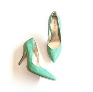 Mint Green Guess Heels